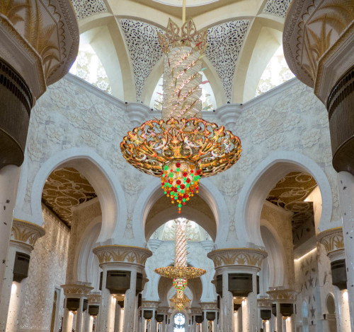 Interior of Sheikh Zayed Grand Mosque