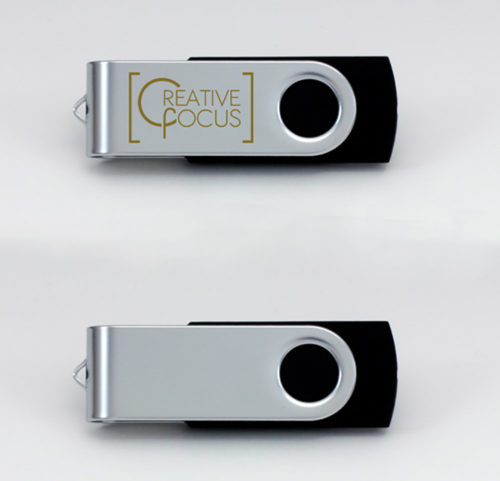Pendrive with Creative Focus Logo