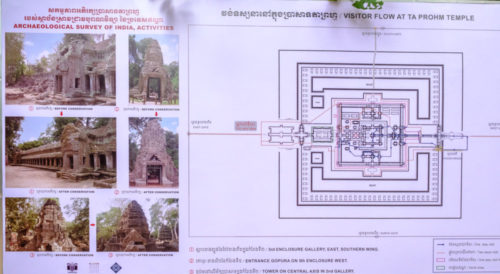 ASI helping to Renovate Ta Prohm Temple