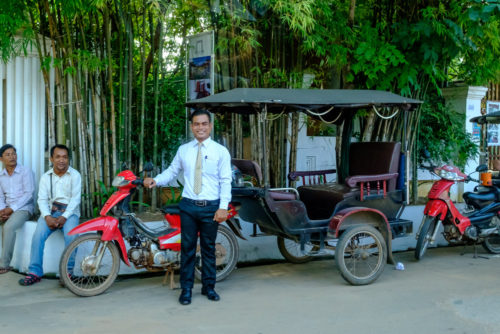 Tuk Tuk with our hotel staff
