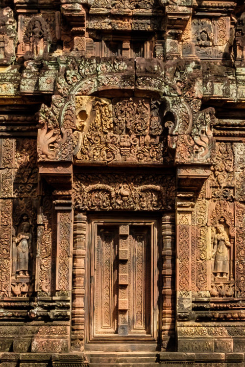 Intricate carvings of the inner sanctuaries