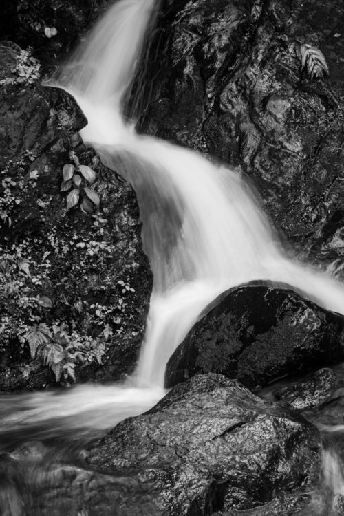 Waterfall in Black & White Rendition