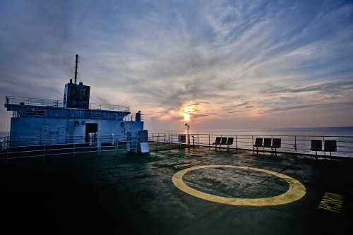 Glorious Sunrise from the Top Deck of MV Kavaratti