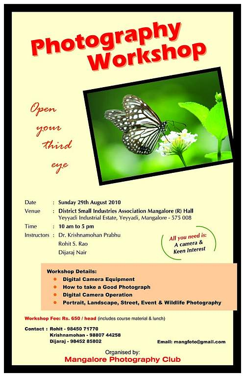 The Photography Workshop on 29th August