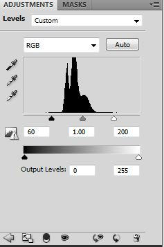 Levels Adjustment in Adobe Photoshop CS4