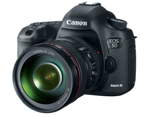 Canon EOS 5D Mark III Front View