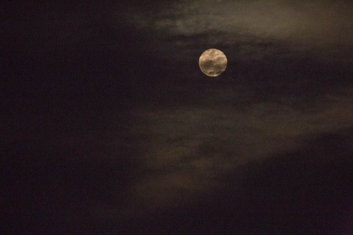 Untouched Cloud with Full Moon at ISO 25600