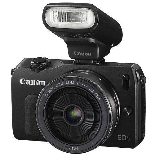 Canon EOS-M with SPEEDLITE-90EX