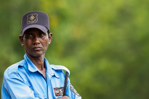 Security Guard at Guttu Mane