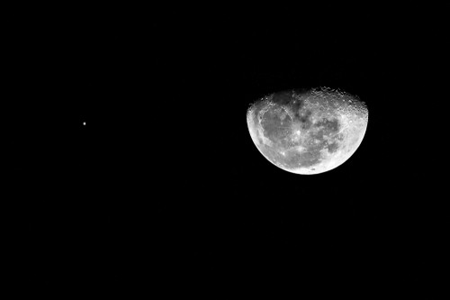 Moon With Jupiter