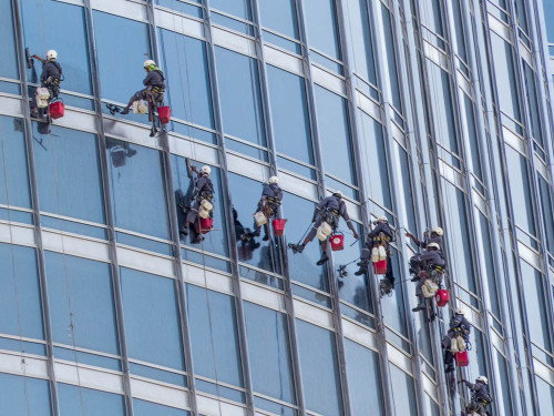 Window Washers on Burj Khalifa