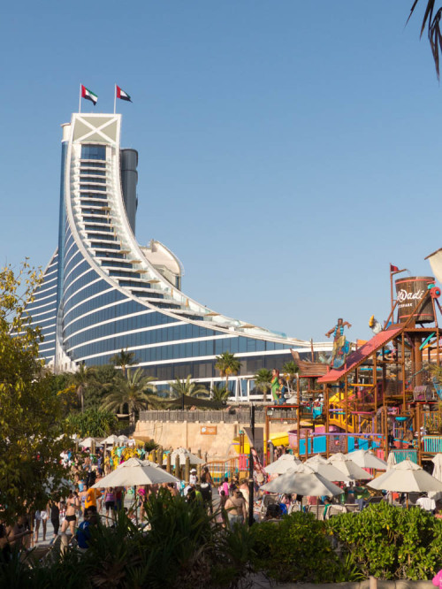 Jumeirah Beach Hotel as Viwed From Wild Wadi Water Park