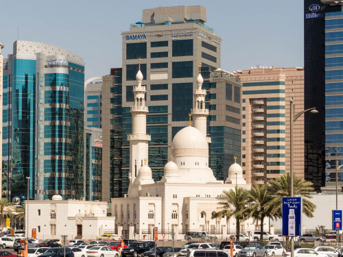 Mosque between Samaya and Hilton Hotel on Baniyas Road, Deira