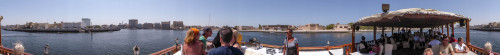 Panorama of Dubai Creek from Dhow