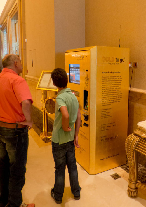 Gold ATM at The Emirates Palace Hotel