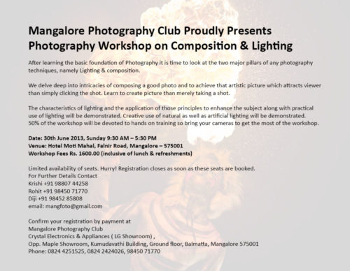 Photography Workshop on Composition & Lighting