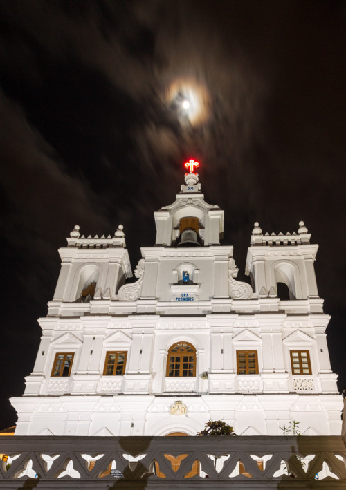 Moon Over Panjim Church