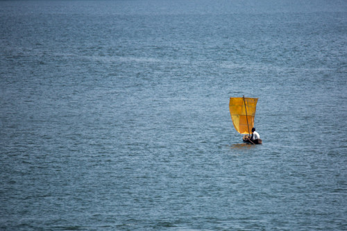 Sailboat Over Sharavathi at 600mm