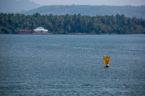 Sailboat Over Sharavathi at 350mm