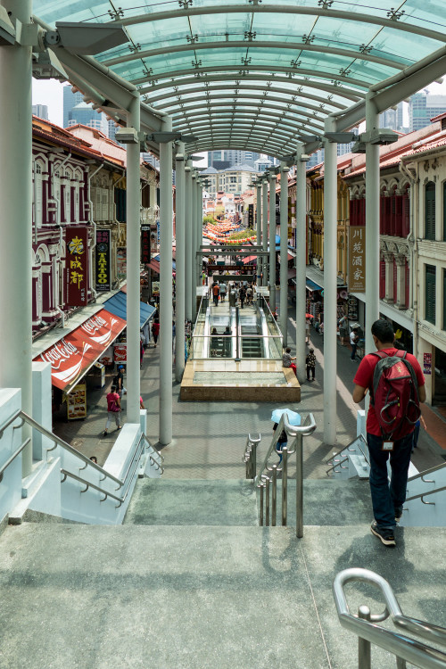 Entry into China Town from MRT
