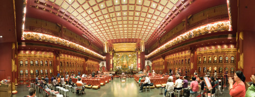 Panorama of the Maitreya Trinity in the Hundred Dragons Hall