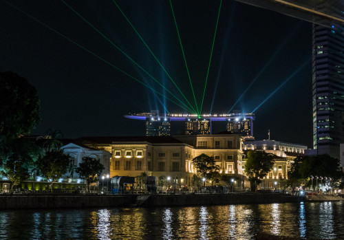 Laser display at Marina Bay Sands