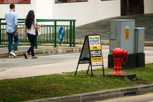 Even Fire Hydrant can talk in Singapore :)