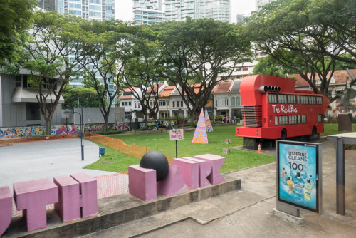 The Red Bus at Youth Park, Singapore