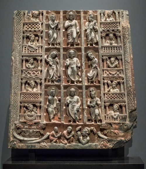 Buddha's descent from the Heaven. Gandhara, 3-4th century