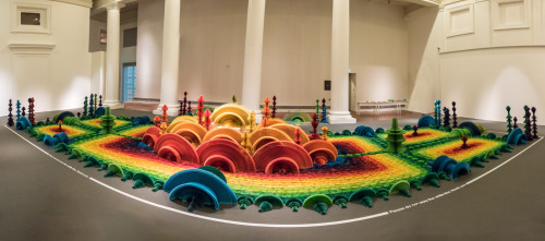 Ocean of Flowers by Li Hongbo Panorama