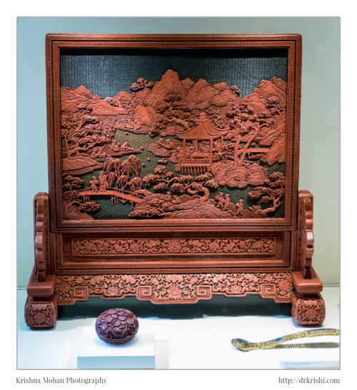 Table screen, China, Qing dynasty