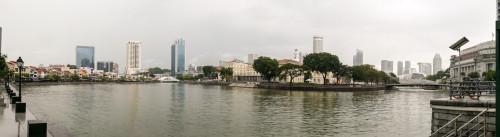 Singapore River Panorama opposite UOB Plaza