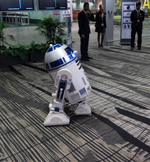 R2D2 from Star Wars at Changi Airport