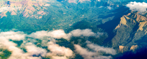 Western Ghats from Aircraft Panorama