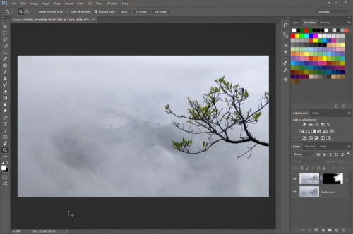 Masking the Foreground layer