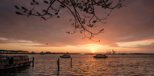 Sunset at Marine Drive, Kochi