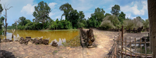 Panorama Showing the moat around Preah Khan