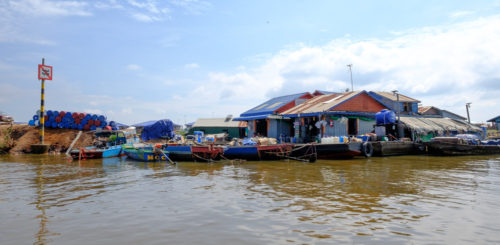 Floating Village fuelling station