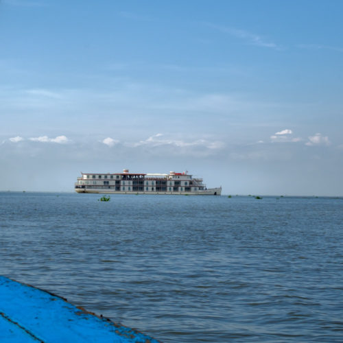 Large tourist Cruise ship in Tonle Sap lake