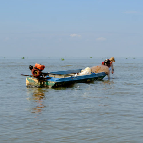 Fishing at Tonle Sap Lake