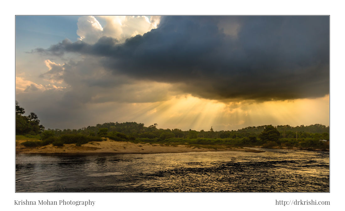 Tunga River Sringeri after Preset