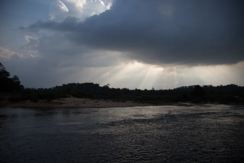 Tunga River Sringeri as captured