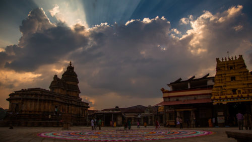 Sringeri Temple After using LR Presets