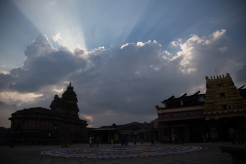 Sringeri Temple as captured