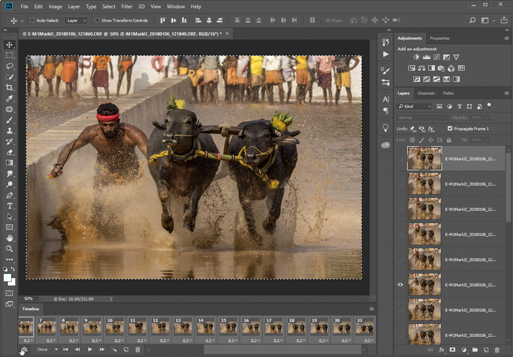 how to create a gif in photoshop from video