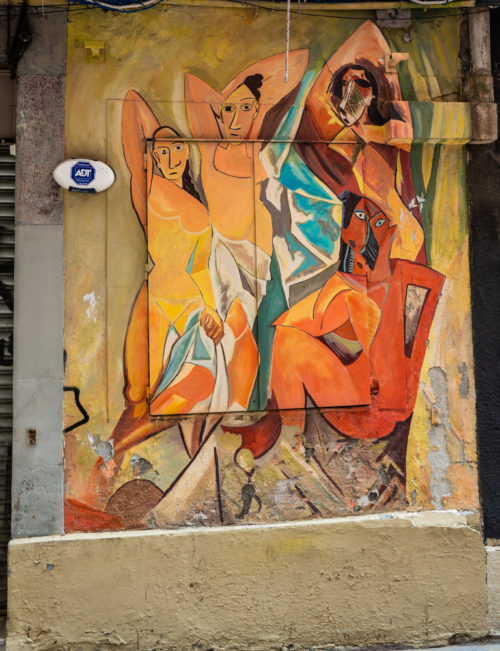 Replica of Picasso's Demoiselles d'Avignon