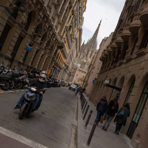 Barcelona Cathedral view from Carrer del Dr Joaquim Pou