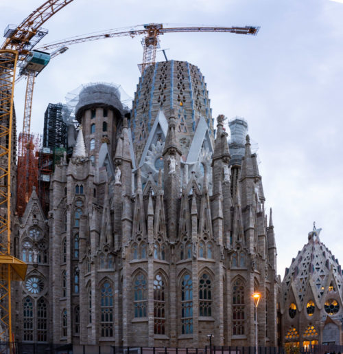 Glory Façade of Sagrada Família Under construction