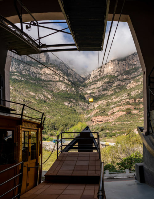 From the Montserrat Cable car station
