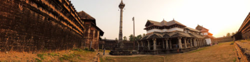 Thousand Pillar Temple 180 degree panorama